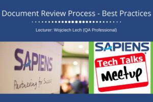 Sapiens Tech Talks 8 listopada w Katowicach